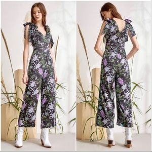 NEW Foxiedox Tinley Floral Cropped Jumpsuit